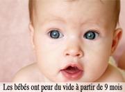 Bébés peur du vide