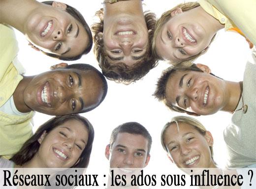 Réseaux sociaux, les ados sous influence
